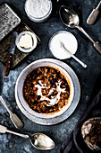 Chilli con carne with sour cream
