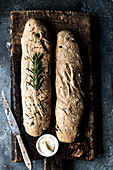 Baguettes with rosemary and fleur de sel