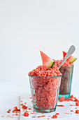 Watermelon and Aperol granita