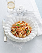 Ricotta gnocchi with seafood (Amalfi Coast, Italy)