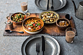 Vegtable curry with roasted chickpeas