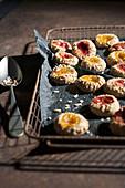 Kastanien-Mandel-Kekse mit Marmelade