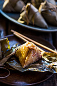 Zongzi (sticky rice in bamboo leaves, China)