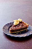 Maple pecan pie with spiced rum ice-cream
