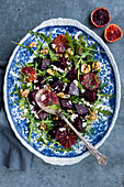 Beetroot salad with blood oranges and walnuts