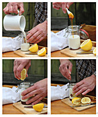 How to make a homemade cream for blemished skin made with honey, milk and lemon
