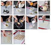Bayerische Creme mit Kräutertee und kandierten Früchten zubereiten