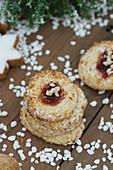 German Christmas biscuits with sugar nibs