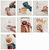 Croquembouche mit Mandeln zubereiten