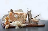 Grana Padano Käse in verschiedenen Ausführungen