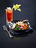 Catalan-style Shrimp Salad and Bloody Mary