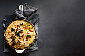 Indian fish pie with cauliflower topping