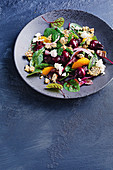 Roast beetroot salad with savoury granola