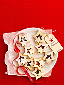 Christmas coconut cookie stars