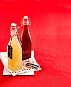 Himbeer-Cordial und Lychee-Cordial