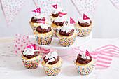 Glutenfreie Lamington Cupcakes