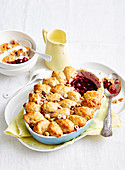Cherry and Raspberry Cobbler