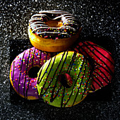 Donuts with colourful icing