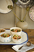 Cabbage Soups in Eclectic Bowls