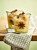 Apple pear compote with star anise