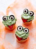 Goblin Cupcakes for Halloween