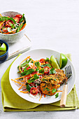 Thai Fish Cakes with Noodle Salad