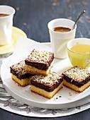 Chocolate macaron slice