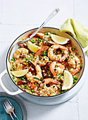 Spicy Prawn and Couscous Paella