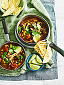 Chicken, Chorizo and Blackbean soup