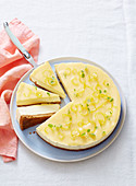 Ginger and Lemon Curd Cheesecake
