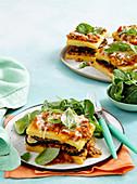 Vegetarian polenta stack