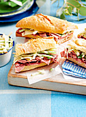Corned beef and remoulade baguettes