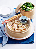Pork and Chive Steamed Dumplings