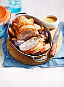 Roast Rolled Pork Loin with Cider Gravy