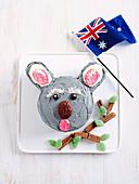 No-cook koala cake