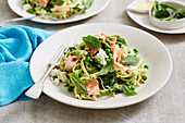 Salmon and Pea Fettuccine