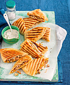 Moroccan Lamb and Pumpkin Pizza Pockets