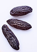 Three cocoa fruits