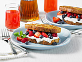 French Toast Sandwiches with Berries