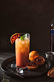 Campari and blood orange mixer