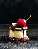 Banana Split Eis-Sandwich