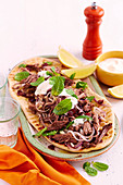 Middle Eastern lamb flatbreads