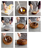 How to make a chocolate and cinnamon cake with pears