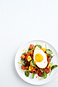 Spiced sweet potato hash with chorizo