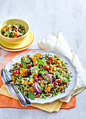Roast Pumpkin and Rice Salad with Rocket Pesto