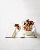 Plum quark with walnut brittle