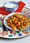 Bombay potatoes with spicy curry paste