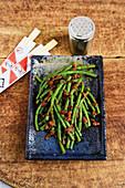 Green Bean Belachan - spicy runner beans