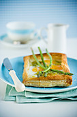 Eggs in Toast with Asparagus