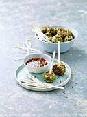 Quinoa Nuggets with Edamame and Umeboshi Sauce